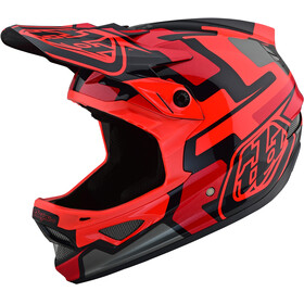 Troy Lee Designs D3 Fiberlite Bike Helmet red/black